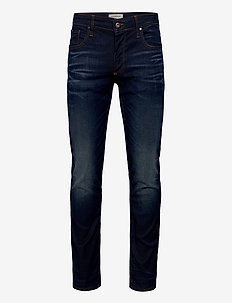 5 pocket jeans stretch - slim jeans - indigo sanded