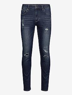 5 pocket jeans stretch - slim jeans - rugged ink blue