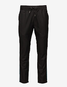 Relaxed pants - casual trousers - black
