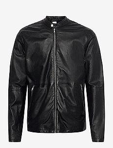 Leather jacket - leren jassen - black