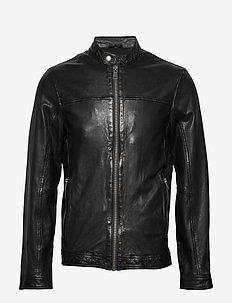 Leather jacket - nahkatakit - black