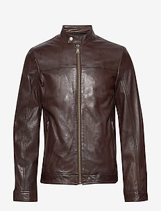 Leather jacket - nahkatakit - brown
