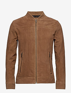 Suede jacket - BROWN