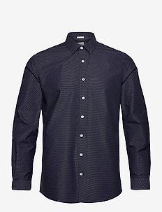 Dobby shirt L/S - chemises basiques - navy