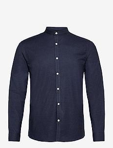 Oxford manderin superflex L/S - chemises basiques - navy mix