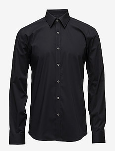 Men's Stretch Shirt L/S - basic overhemden - black