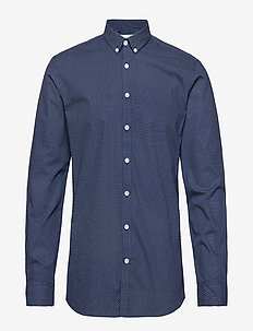 Printed shirt L/S - DARK BLUE