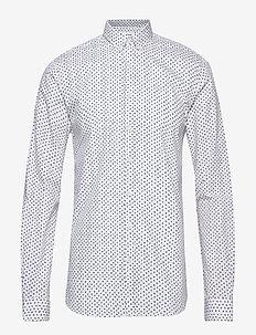 Printed shirt L/S - WHITE
