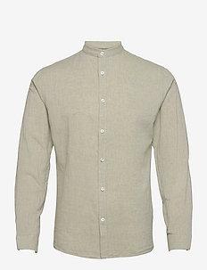 Linen shirt L/S - chemises de lin - light army