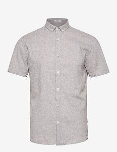 Linen shirt S/S - peruspaitoja - grey