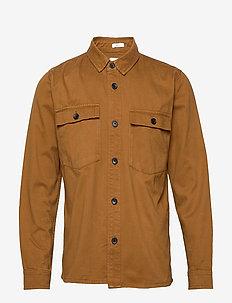 Overshirt L/S - LT BROWN
