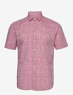 Checked structure shirt S/S - koszule lniane - red