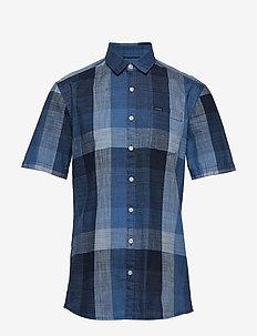Check shirt S/S - BLUE