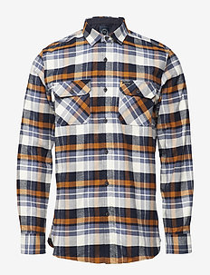Brushed check L/S shirt - NAVY