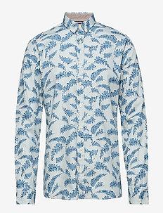 AOP shirt L/S - LIGHT BLUE