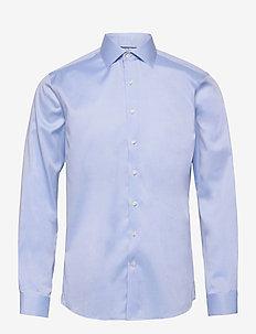 Plain fine twill shirt, WF LS - basic-hemden - light blue