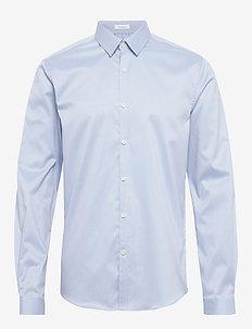 Plain twill stretch shirt L/S - chemises basiques - light blue