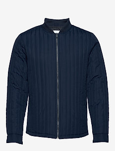 Quilted jacket - DK BLUE
