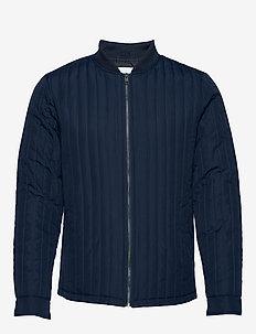 Quilted jacket - pikowana - dk blue