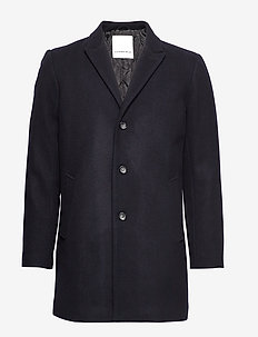 Wool coat - ullfrakker - navy