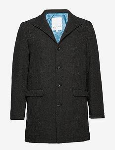 Coat with stand collar - wollen jassen - black