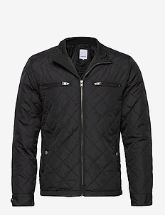 Quilted jacket - quiltede - black