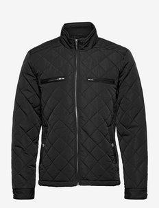 Quilted jacket - pikowana - black