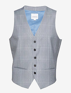 Waist coat for checked suit - BLUE CHECK