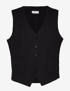 Knitted waistcoat - waistcoats - black