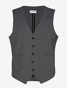 Knitted waistcoat - GREY MIX
