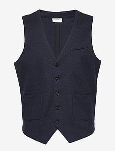 Superflex knitted waistcoat - veste - navy mix