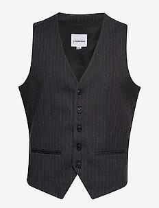 Pin striped waistcoat - DK GREY MEL
