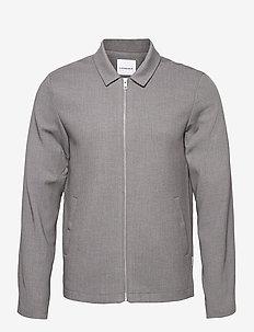 Zip through overshirt - oberteile - grey mel