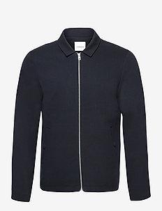 Zip through overshirt - oberteile - navy