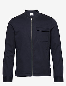 Superflex knitted overshirt - overshirts - navy mix