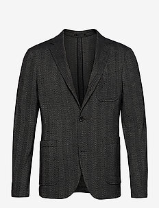 Unconstructed blazer - marynarki jednorzędowe - black mix