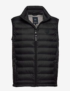 Quilted down gilet - BLACK