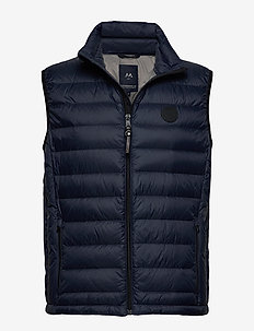 Quilted down gilet - DK BLUE