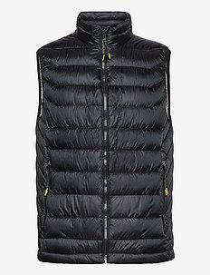 Light down gilet - vests - black