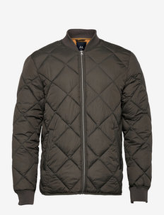 Quilted jacket - pikowana - dk army