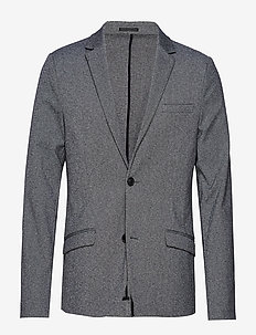 Knitted blazer - single breasted blazers - grey mix