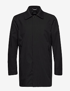 Technical twill coat - trenchcoats - black