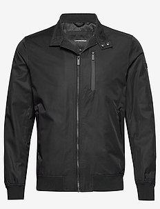 Cotton touch jacket - BLACK