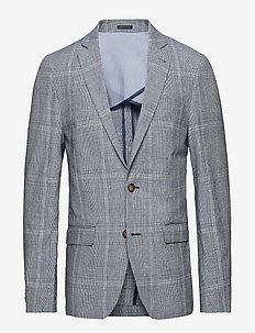 Checked blazer - BLUE