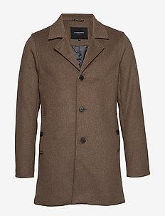 Melange wool coat - CAMEL