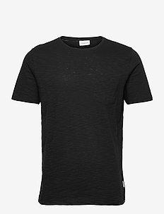 Slub tee S/S - basic t-shirts - black