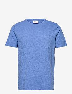 Slub tee S/S - basic t-shirts - blue