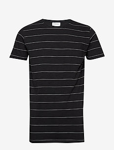 Striped slub tee S/S - BLACK