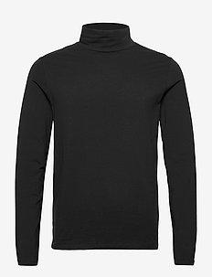 Turtle neck tee L/S - perus t-paidat - black