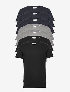 Basic o-neck tee S/S 7 pack - multipack - bl/gr/na